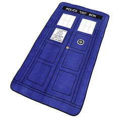 Exclusive Doctor Who TARDIS Throw Blanket