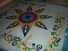 Fun applique, great lone star, beautiful quilting