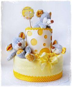 Cadeau naissance gâteau de couches Cheese cake - Babys Cakes