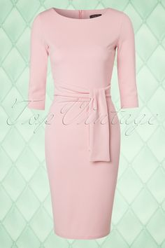 Vintage Chic - 50s Victoria Pencil Dress in Soft Pink