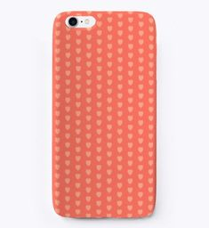 Tiny Hearts iPhone Case in Coral
