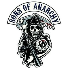 """Sons of Anarchy Reaper Logo Patch - Iron On / Sew On Patch - 4.25"""""""