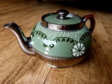 Silvoe art ware Gibson&sons-green and silver luster Nouv tea pot