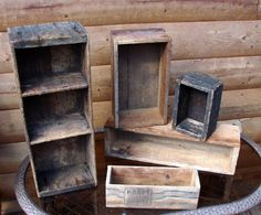 Old Wooden Boxes 5 total Great Storage Rustic Home Decor. $61.00, via Etsy.