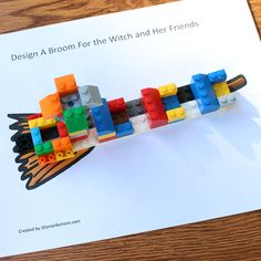 Room on the Broom STEM Building Activity - Creating Seats, a Perch on the Broom, and a Pool. Fall Preschool Activities, Preschool Literacy, Halloween Activities, Stem Activities, Kindergarten, Lego Halloween, Halloween Crafts, Julia Donaldson Books, Stem Classes
