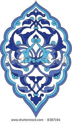 Traditional ottoman rumi design navy and light blue Traditional ottoman rumi design navy and light b Islamic Patterns, Tile Patterns, Pattern Art, Turkish Tiles, Turkish Art, Islamic Tiles, Islamic Art, Motifs Islamiques, Motif Oriental