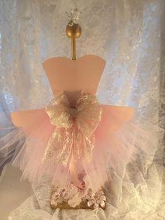 Ballerina Tutu Centerpiece - Ballerina Party - Birthday Party Decorations - Baby Shower - Ballet Event - Naming Ceremony - Customized - Posh by MemoryKeepsakeParty on Etsy https://www.etsy.com/listing/267924677/ballerina-tutu-centerpiece-ballerina