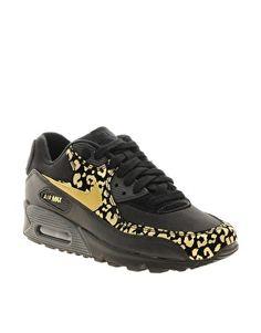 Nike Air Max 90 08 Gold Leopard Sneakers BADASS | Nike air