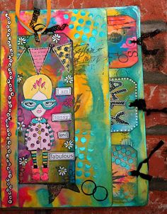 Art Journal Pocket Page - love the colours on this and the way it's been put together - must try it.