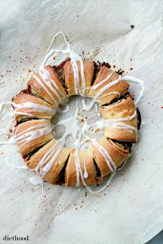 Wreath Roll Cinnamon Roll Wreath