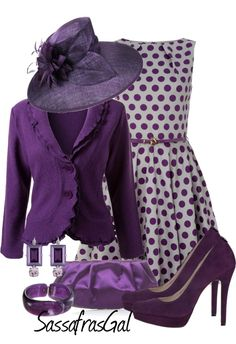 """""""Polka Dots & Feathers"""" by sassafrasgal on Polyvore"""