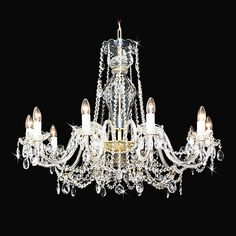 Large pear shaped crystal chandelier with swarovski crystal ...