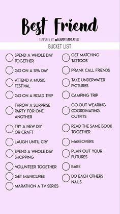 bucket list for girls bucket list for best friends Teen Sleepover, Things To Do At A Sleepover, Fun Sleepover Ideas, Crazy Things To Do With Friends, Sleepover Activities, Sleepover Party Games, Best Friend Dates, Best Friend Quiz, Best Friend Bucket List