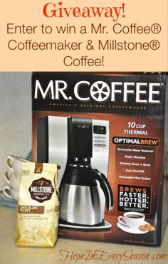 Hope In Every Season: Morning Coffee Giveaway! Win a Mr. Coffee® Coffeemaker & a Bag of Millstone® Coffee #CoffeeJourneys #shop #cbias