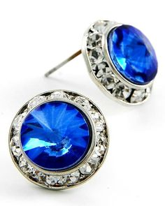 """**Coupon Code!** These darling stud earrings (& more colors!) are only $9.60, PLUS get 10% off your entire order & FREE shipping with discount code """"SAVE10"""" at checkout! #earrings #studs #sapphire"""