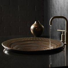 Kohler Derring Carillon Wading Ceramic Circular Drop-In Bathroom Sink Sink Finish: Bluestone Rutile