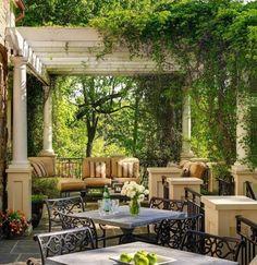 Columns for backyard patio.