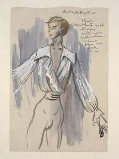 Costume design for Rudolf Nureyev as Armand by Cecil Beaton, Marguerite and Armand, Covent Garden, March 12th 1963 | © V&A Images