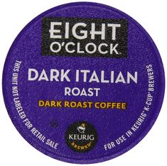 Eight O'Clock Dark Italian Roast K-Cups (72 count) >>> Find out more details by clicking the image : K Cups