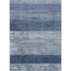 Janiya Blue Rug World Menagerie Rug Size: Rectangle 269 x Indoor Rugs, Outdoor Area Rugs, Blue Outdoor Rug, Industrial Area Rugs, Navy Rug, Modern Area Rugs, Material Design, Navy Stripes, Accent Furniture