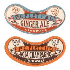 P.C Flett & Co. Ginger Ale & Kola Champagne Vintage Packaging