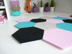 DIY Sous-main hexagone pour votre bureau - Le Meilleur du DIY