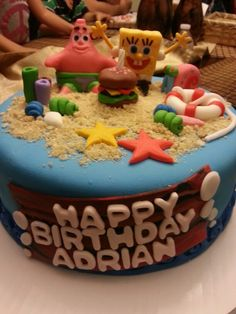 Sponge bob cake                                                                                                                                                                                 More