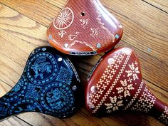 retro patterned bike seats