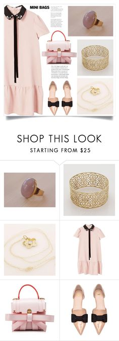 """""""So Cute: Mini Bags"""" by samra-bv ❤ liked on Polyvore featuring MANGO, Niels Peeraer and H&M"""