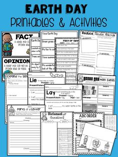 Earth Day Printables & Activities