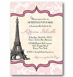 Vintage Paris Invitation  Bridal or Baby Shower by TrinityStStudio, $16.00