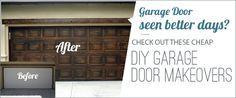 Garage Door Makeovers for Cheap