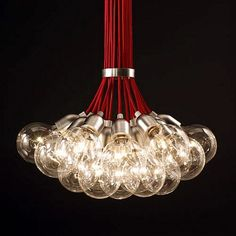 Bouquet of 19 Bulbs Long Pendant Light