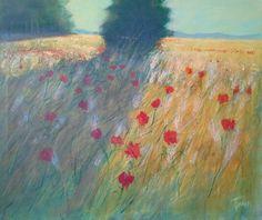 Campo d'estate acrilico su tela cm100x100 Luigi Torre painter 2015