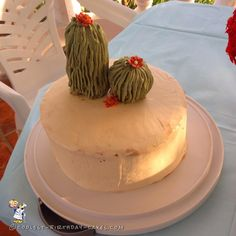 Father Son Birthday Cactus Cake... Coolest Birthday Cake Ideas