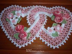 Art Au Crochet, Crochet Diy, Crochet Home, Vintage Crochet, Crochet Doilies, Crochet Applique Patterns Free, Crochet Flower Patterns, Crochet Diagram, Crochet Flowers