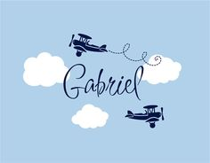 Airplane Wall Decals Cloud And Personalized By Wallartsy