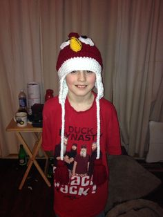Red angry bird hat