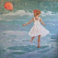 BEACH BALLET by JOYCE NORWOOD Oil ~ 48 x 48