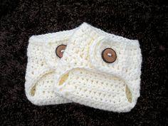 Chunky Cream Diaper Cover, Crochet Newborn Diaper Cover, Baby PHOTO PROP. $15.00, via Etsy.