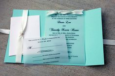 Tiffany Blue Wedding Invitation Tiffany Blue with by SweetSights, $4.50