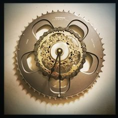 it's going to be a great week and I can't think of a better way to spend it then creating Bike Gear Wall Clocks!