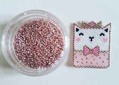 Peyote Stitch Patterns, Bead Crochet Patterns, Beaded Bracelet Patterns, Beading Patterns, Bead Crafts, Wire Crafts, Rose Moustache, Miyuki Beads, Art Perle