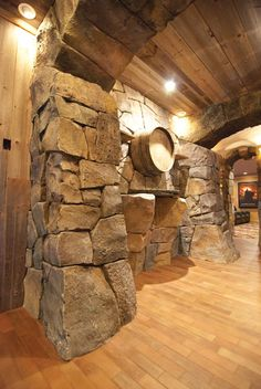 Rustic Stone, Rustic Art, Rustic Design, Stone Exterior Houses, Stone Houses, Viking House, Building Stone, Stone Interior, Barn Renovation