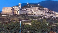Assisi (as in St. Francis), an amazing Italian town.