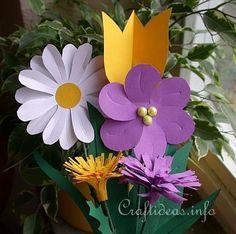 Spring Paper Craft - Color Paper Flower Bouquet