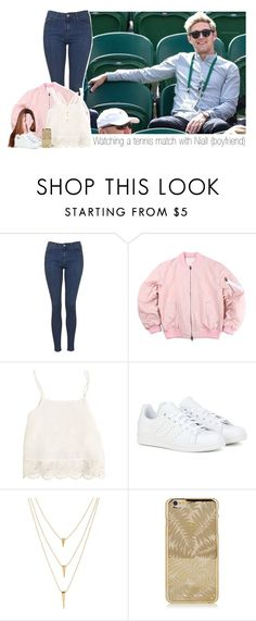 """Watching a tennis match with Niall"" by one-direction-makes-me-strong ❤ liked on Polyvore featuring Topshop, Swell, adidas, Kendra Scott and NiallHoran"