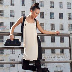 Margaux Shift Dress & Ivana Clutch