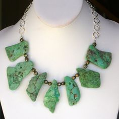 rustic chrysoprase and pyrite