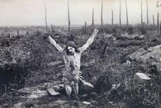 The 'Christ of the Trenches' carried by Portuguese soldiers into the trenches with them during the Battle of the Lys.